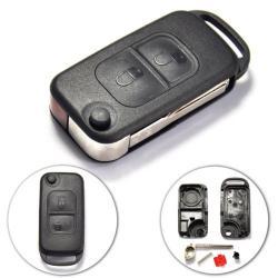 Télécommande coque de clé plip 2 boutons Mercedes Classe A C E S