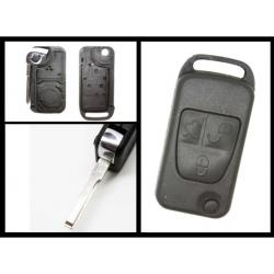 Télécommande coque de clé plip 3 boutons Mercedes Classe A C E S