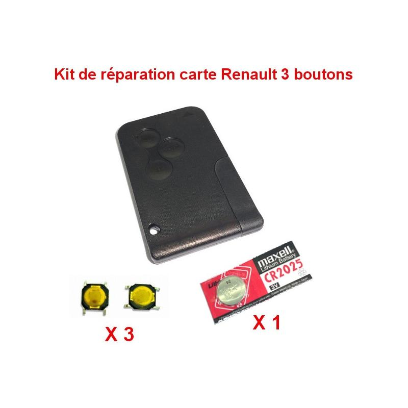 kit de r paration renault megane scenic carte pile cr2025 switch auto cles services. Black Bedroom Furniture Sets. Home Design Ideas