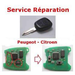 Service réparation télécommande clé Citroën C1 C2 C3 Xsara Picasso, Berlingo Peugeot 107 206 307 Partner 406