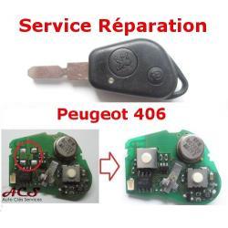 Service réparation télécommande 1 et 2 boutons Peugeot 406