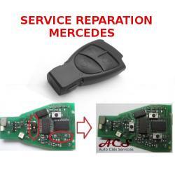 Service réparation télécommande clé 2/3 boutons Mercedes Classe A C E S CLK VITO Viano