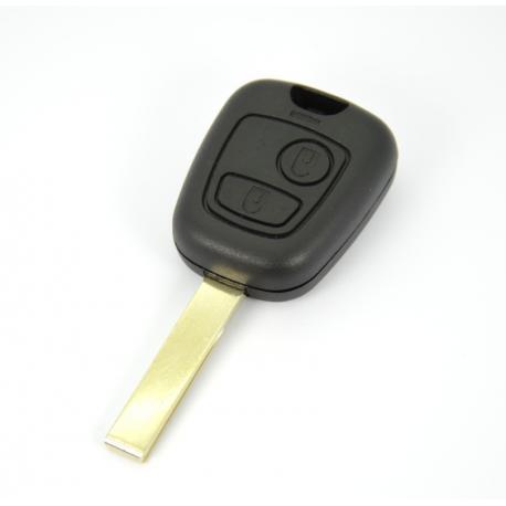 Télécommande coque de clé plip Peugeot 107,207,307 2 boutons HU83