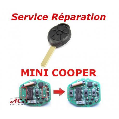 Service réparation télécommande clé 3 boutons Mini Cooper S one cabriolet, R50,R52,R53