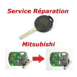 Service réparation télécommande clé Mitsubishi Colt, Warrior, Carisma, Space Star 2 boutons