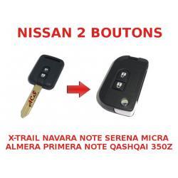 Kit de transformation de Clé pliable Nissan X-Trail, Navara, Micra, Almera, Primera, Qashqai, Note, 350Z, Serena