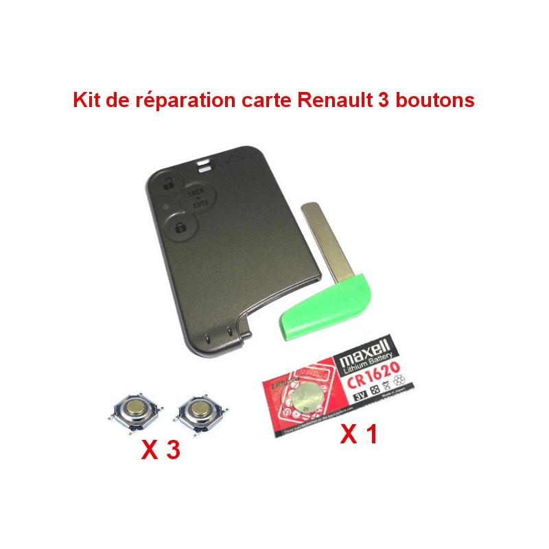 kit de r paration renault laguna espace vel satis carte pile cr1620 3 switch auto cles. Black Bedroom Furniture Sets. Home Design Ideas