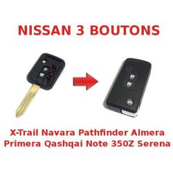 Kit de transformation de Clé pliable Nissan PATHFINDER, NAVARA SERENA
