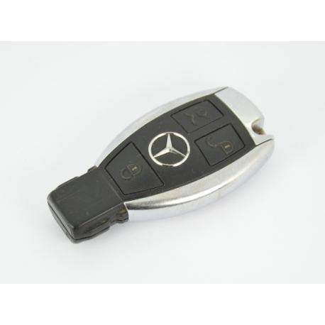 Télécommande clé Mercedes classe A/ B/ C/ E / S/ ML/ CLK/ SLK/ SL 3 boutons chrome