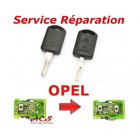 Service réparation télécommande clé Opel 2 boutons Corsa, Combo, Agila, Meriva, Vectra, Tigra