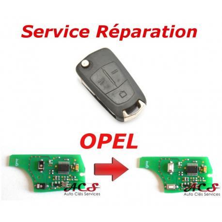 Service réparation télécommande clé Opel 2/3 boutons Vectra, Astra, Zafira, Corsa, Signum, Meriva