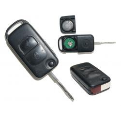 Télécommande clé Mercedes classe A/ B/ C/ E / S 2 boutons REF : 267 102 334 KR55