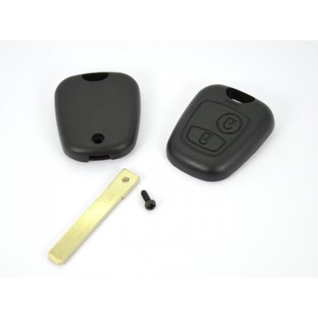 Télécommande coque de clé 2 boutons Citroen C1 C2 C3 C4 C5