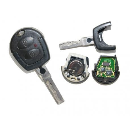 Télécommande émetteur 2 boutons VW Golf, Polo, Lupo, Sharan, Bora, Passat