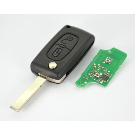 Télécommande émetteur Peugeot 207 2 boutons 6490EE