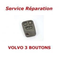 Service réparation télécommande clé 3 boutons Volvo S70, V70, C70, S40, V40, XC90, XC70