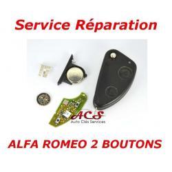Service réparation télécommande clé Alfa Romeo 147, 156, 166, GT 2 boutons