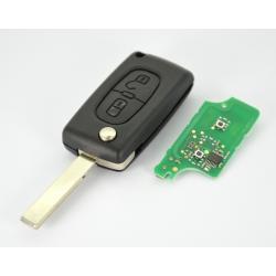 Télécommande émetteur Peugeot 307 2 boutons 6490 EE EF