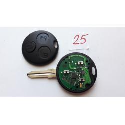 Télécommande émetteur 3 boutons Smart Fortwo 450, Forfour, Roadster