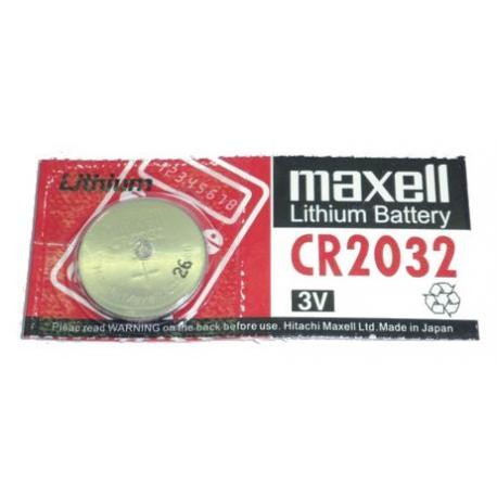 Pile Maxell CR2032 CR 2032 lithium pour télécommande, clé électronique