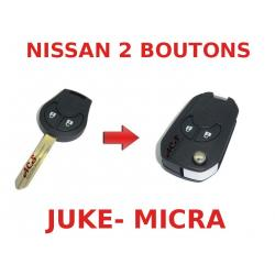 Kit de transformation de Clé pliable Nissan Juke, Micra
