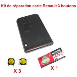 Kit de réparation Renault Megane Scenic carte + pile CR2025 + switch