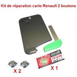 Kit de réparation Renault Laguna, Espace, Vel Satis carte + pile CR1620 + switch