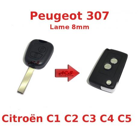 Kit de transformation de Clé Pliable Peugeot 107,307,407 Citroen C1,C2,C3,C4,C5