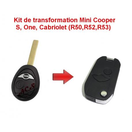 Kit de transformation de clé pliable Mini Cooper S, one, cabriolet (R50,R52,R53)