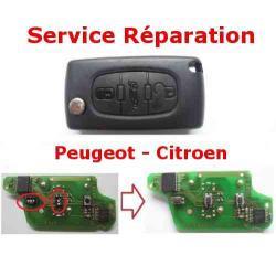 Service réparation télécommande clé Citroën C1 C2 C3 C4 C5 C8 Berlingo Peugeot 207 307 308 407 807 Partner