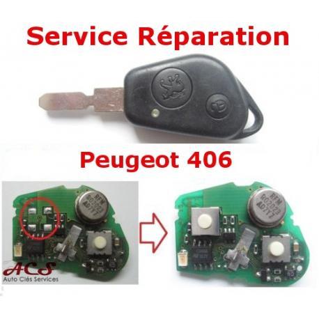 Service réparation télécommande 2 boutons Peugeot 406
