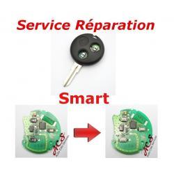 Service réparation télécommande clé 2/3 boutons Smart Fortwo 450, Forfour, Roadster
