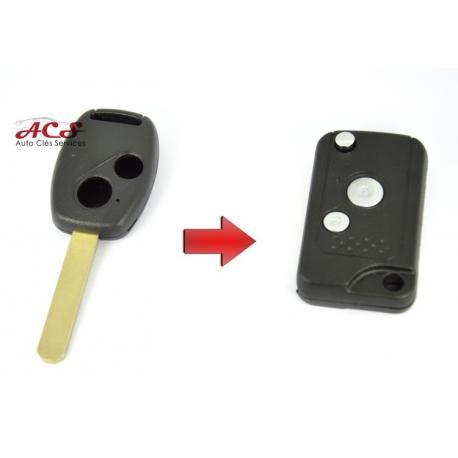 kit de transformation de clé pliable 2 boutons Honda Accord, Civic, CRV, HRV, Jazz...