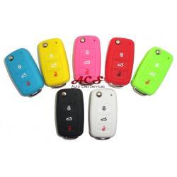 Étui housse de protection pour télécommande SKODA Octavia 1/2, Fabia, Superb 1/2 Rapid, Roomster, Yeti 3 boutons