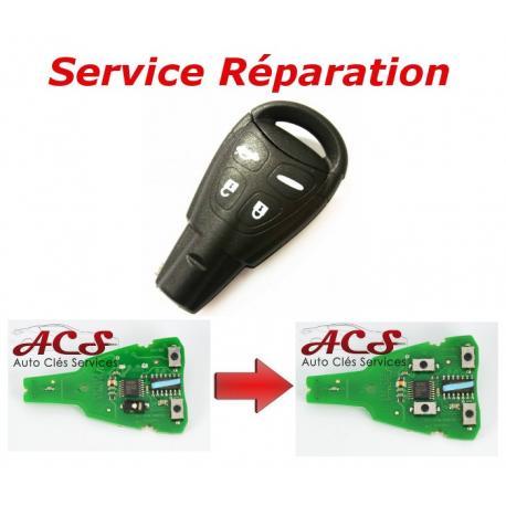 Service réparation télécommande clé 4 boutons SAAB 93, 95, 9.3, 9.5
