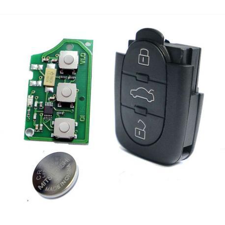 Télécommande émetteur Audi A3 A4 A6 RS4 TT Quattro 3 boutons 4D0837231A 4D0 837 231 A