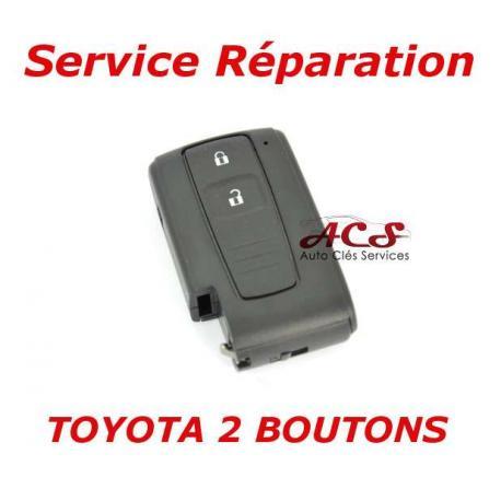 Service de réparation pour télécommande clé Toyota Avensis, Crown, Prius, Verso, Rav 4, IQ 2 boutons