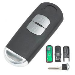 Boitier de télécommande clé plip Mazda 2 boutons 3 5 6 CX-5 CX-7 CX-9 RX8 MX5