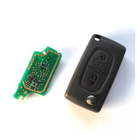 Télécommande électronique émetteur peugeot citroen 2 boutons E154554