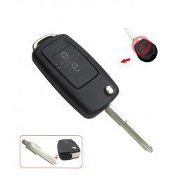 kit de transformation coque de clé pliable 2 boutons VW Volkswagen Seat Skoda