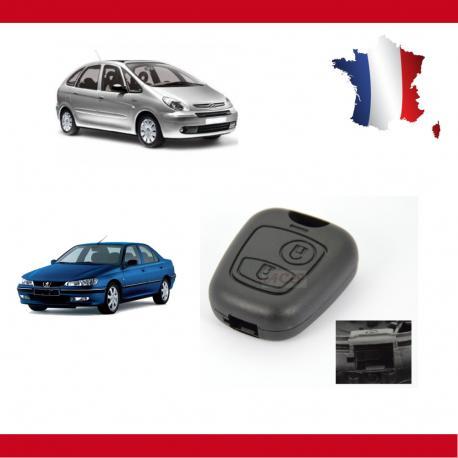 Télécommande coque de clé Citroën Xsara Picasso, Saxo, Berlingo Peugeot Partner 406 sans vis
