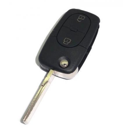 Télécommande coque de clé plip 2 boutons Audi A3, A2, A4, A6, A8, TT RS3 RS4 2032